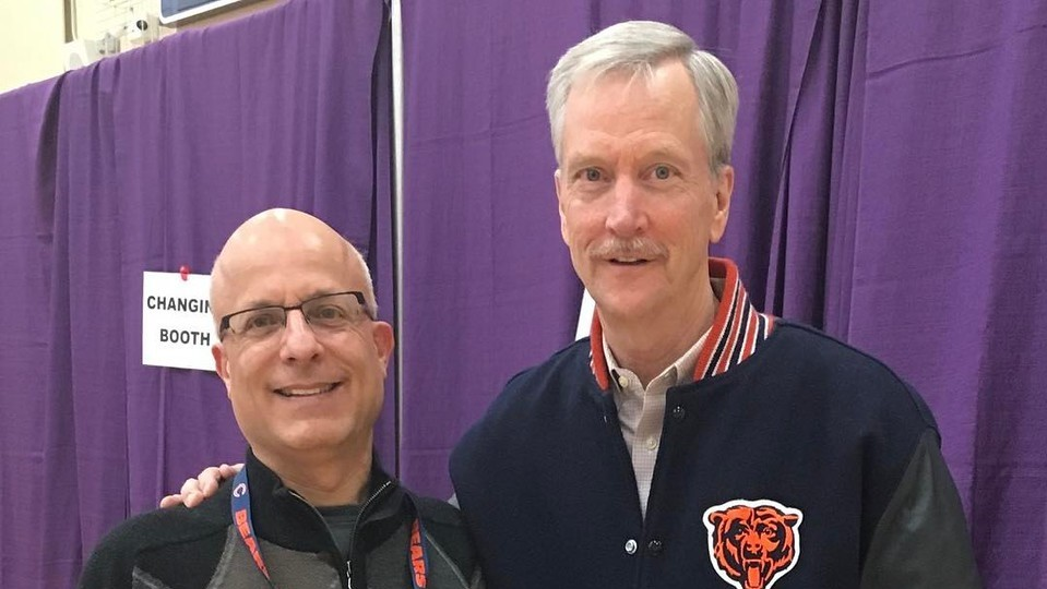 Dr. Lavie and George (chairman of the Bears)