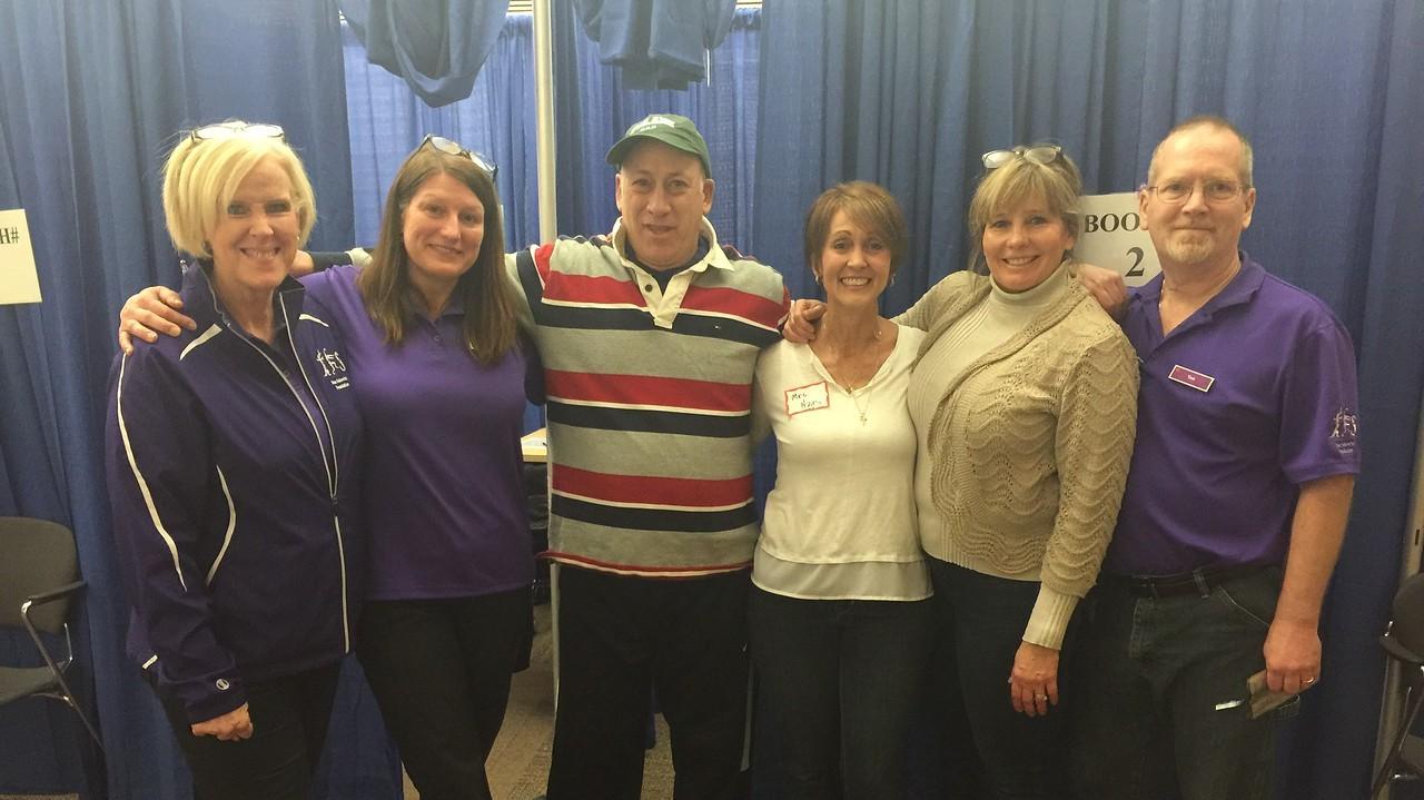 Group of six parent volunteers